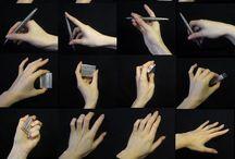 Drawingteknik - händer, fötter o ben
