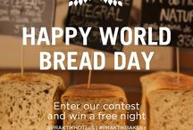 World Bread Day 2014 Praktik Bakery / At the Praktik Bakery Hotel we love bread (bet you had noticed!) and we wanted to celebrate with you that today 16th October is World Bread Day. We´re launching a social media challenge: take a picture of yourself enjoying the delicious bread from our bakery and upload it to our profiles in Facebook or Twitter or Instagram with the hashtag: #PraktikBakery Among all participants who send their picture today (16th October 2014) we Will Give Away 1 Free Night At The Praktik Bakery For 2 People!!