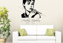 Celebrity Wall art Stickers / Wall quote stickers of famous celebrity around the world.