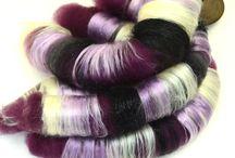 Fibery Goodness / Spinnable fibers: Wool batts, fiber top, sparkle, silks and more.