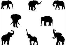 Elephant/mammoth silhouette