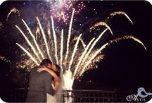 Wedding Fireworks / Whether you highlight your first kiss, celebrate with an aerial display during your reception or end the night with sparkle fountains, adding fireworks to your wedding will add that WOW factor.