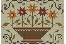 Primitive Cross Stitch Freebies