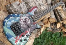 Custom Guitar Finishes / Hand painted, one-off, anything goes custom guitar and bass finishes from one of the leading artists in the music industry, Mike Learn.