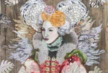 Sabina Pieper / Fascinated with the theatricality of Tudor and Elizabethan portraiture, Sabina explores the modern day icon in this uniquely elaborate style. Using contemporary, and sometimes macabre, imagery Sabina counterbalances the period theme, setting these strong female subjects in a timeless realm.