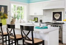 Better Homes and Gardens Inspiration Board / ~ Small Eclectic Coastal Surf Kitchen ~  Kitchen Makeover Ideas: What every culinary surfer girls dreams are made of.
