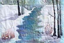 Winterlandschap quilt