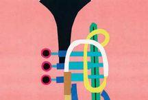 muzieklokaal - affiches