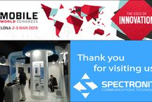 Mobile World Congress 2015 / Spectronite Exhibition at the Mobile World Congress 2015, the biggest trade show in the telecommunication and mobile industry.