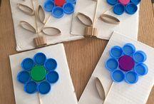 Basteln mit Klorollen und Papptellern