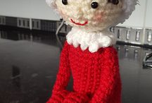 Crochet elf on a shelf