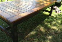 Hey Judes BIG dining table ideas! Find ua on facebook!