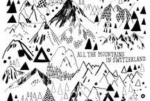 montañas / ilustraciones sobre montañas