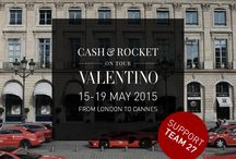 Cash & Rocket 2015 / Maison Valentino is pleased to announce its sponsorship at the fourth edition of the fundraising event Cash & Rocket to support three humanitarian organizations: Shine on Sierra Leone, OAfrica and Sumbandila. Starting from 15th May the creative director Maria Grazia Chiuri will drive across Europe to raise funds with her team, team 27.