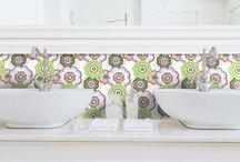 essenza di casa / piastrelle in ceramica dipinte a mano