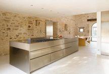 Rustic Italian Kitchen Contemporary Island