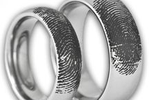 His and hers wedding rings