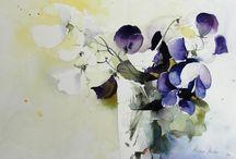 akvarely kvety