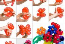Cum sa faci flori din baloane