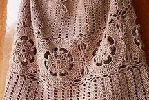 saias curtas em crochet