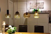 Mine selvkomponerte lamper. / Lamper jeg selv har laget.