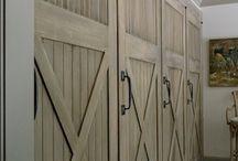 barn doors τετράφυλλη ντουλαπα