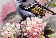 yağlıboya kuşlar