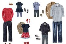 What to wear for family photos - color combos / by Stacey Wurtz