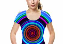 Funky Tshirts / Bright and colourful funky tshirts with hippie designs