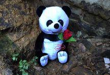 Oyuncak peluş Panda