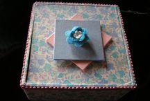 cartonnages / réalisation et décorations de boites diverses