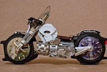 miniature motorcycle art / by Mary Lozinak