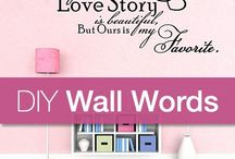 Wall words and stencils