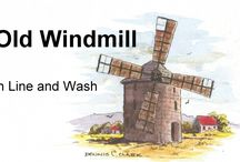 Free Line and Wash Draw and Paint Video Tutorials