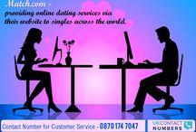 MATCH.COM / MATCH.COM Contact Number for Customer Service – 0870 174 7047
