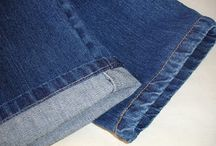 Jeans / Barra original de calça