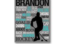 Hockey room ideas for a small room / Brandon
