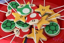 super mario cookies on stick