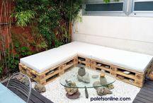 Colchones para diseño con palets / El uso de colchones, cojines y pufs en el diseño de mobiliario con palets