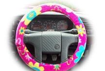 Poppys Crafts Steering wheel covers / Steering wheel covers handmade by me Poppys Crafts. Faux fur fuzzy steering wheel covers, cute cotton steering wheel covers and soft fleece steering wheel covers,