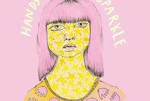 pink drawings