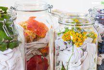 Färben mit Blüten Blätter usw.