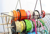 Scrapbooking Ribbons storage / stockage des rubans
