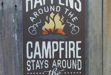 Camping ideas, recipes,signs