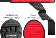 Weightlifting grip straps & pads combo