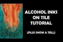 verven met alcohol  inkt