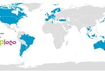Bezochte landen / Kaart