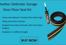Garage Door Floor Seal / The Weather Defender has been designed to form an excellent seal between the garage door and the floor. The floor seal will prevent unwanted WATER seeping in under the gap of your garage door. The Weather Defender floor seal will prevent, rain, snow, leaves, dust and dirt being pushed under your garage door by the wind!