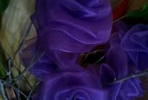Textilvirágok / Flowers made of textile