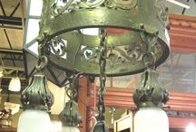 Antique Light Fixtures, Sconces, Chandeliers / Antique light fixtures, sconces and chandeliers.
